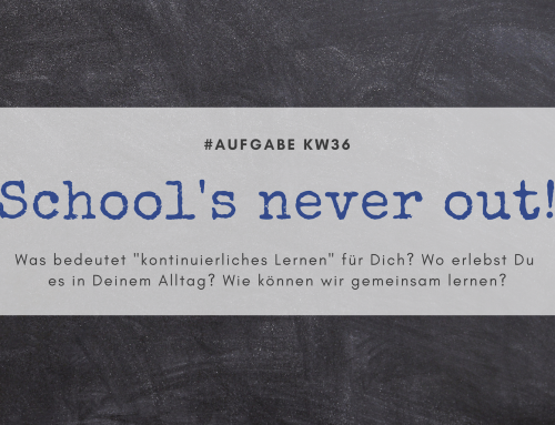 School's never out! (KW36)