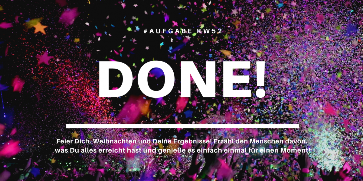 KW52 - Done!